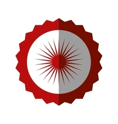 Badge blank red circle design icon vector
