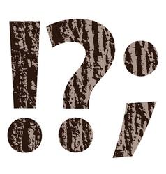 Bark question mark vector