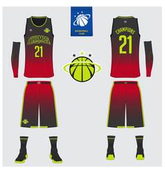 basketball uniform mockup template design vector image