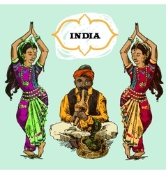 beautiful India vector image