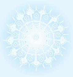 Beautiful winter background with a snowflake vector