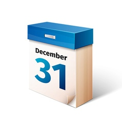 blue 3d calendar icon isolated on white vector image