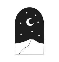 Bohemian modern arch logo design crescent stars vector