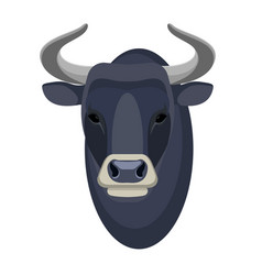 Bull head realistic icon muscular and aggressive vector