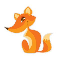 cartoon fox vector image