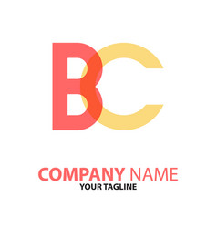 Cb bc initial logo concept can be used vector