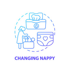 changing nappy blue gradient concept icon vector image