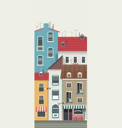 city street horizontal vector image