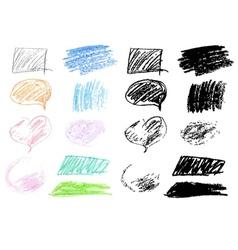 Crayon Doodles2 vector