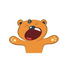 Cute bear yelling vector