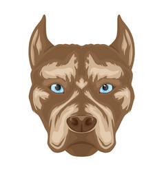 dog breed pit bull terrier sign vector image