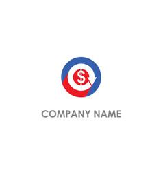 Dollar money arrow round logo vector