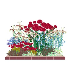 flower garden vector image