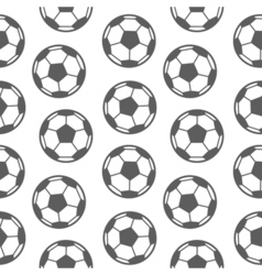 Football seamless pattern for boy sports balls on vector