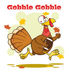 Football turkey bird cartoon character vector