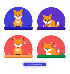 fox icon fox design vector image