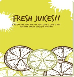 fresh juices2 resize vector image