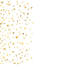 gold star confetti celebration isolated on white vector image