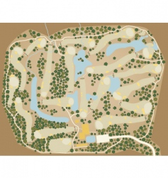 golf course map vector image