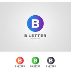 Gradient b letter logo design template vector