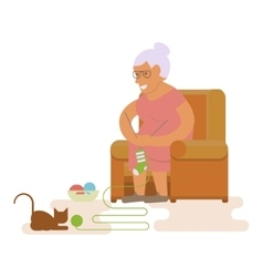 Grandma in chair vector