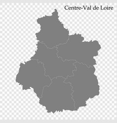 high quality map region france vector image