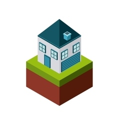 House icon Isometric design graphic vector image