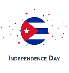 Independence day of cuba patriotic banner vector