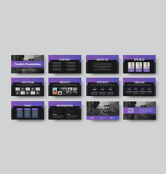 Infographic template with purple elements on vector