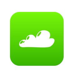Internet cloud icon green vector