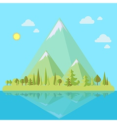 Island with mountains vector image