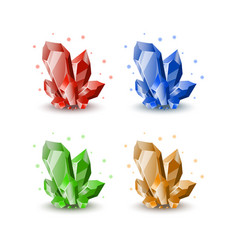 jewels for gui gemstone icons vector image