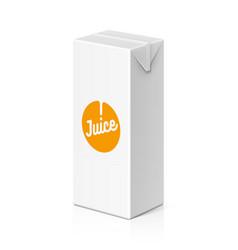 Juice or milk package mock up 200ml vector