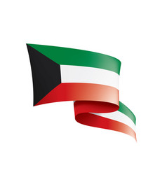 kuwait flag on a white vector image