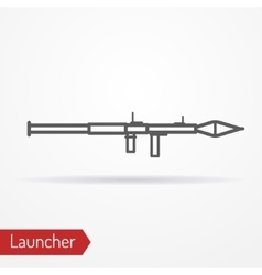 Launcher line icon vector image