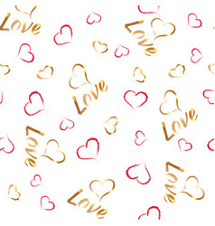 love pattern 1 vector image vector image