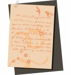 lover letter vector image
