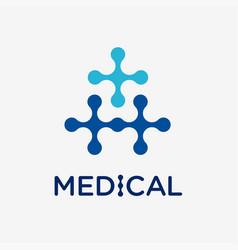 Medical and health conceptual logo vector