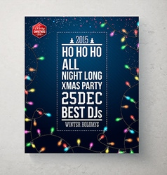Merry Christmas and Happy new year party poster vector image