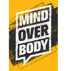 mind over body sport and fitness creative vector image