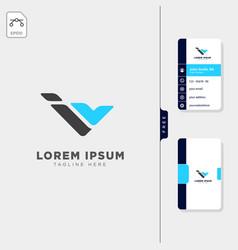 Minimal i iv or v initial logo template free vector