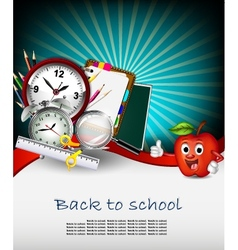 modern back to school background for you design vector image