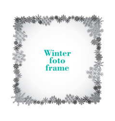 Monochrome isolated foto frame decorative vector