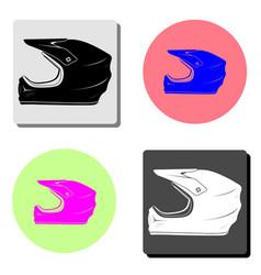 motorcycle helmet flat icon vector image