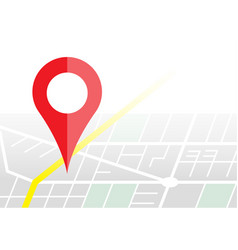 navigater pin checking on map gps concept vector image