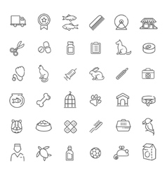 Outline web icon set - pet vet pet shop vector