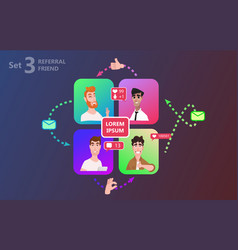 people chatting social media online together vector image