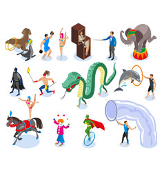 performers and entertainment icons set vector image