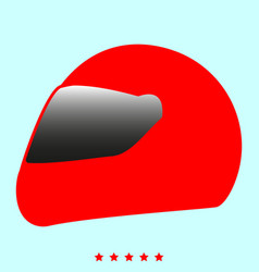 racing helmet it is icon vector image