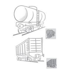railcars vector image